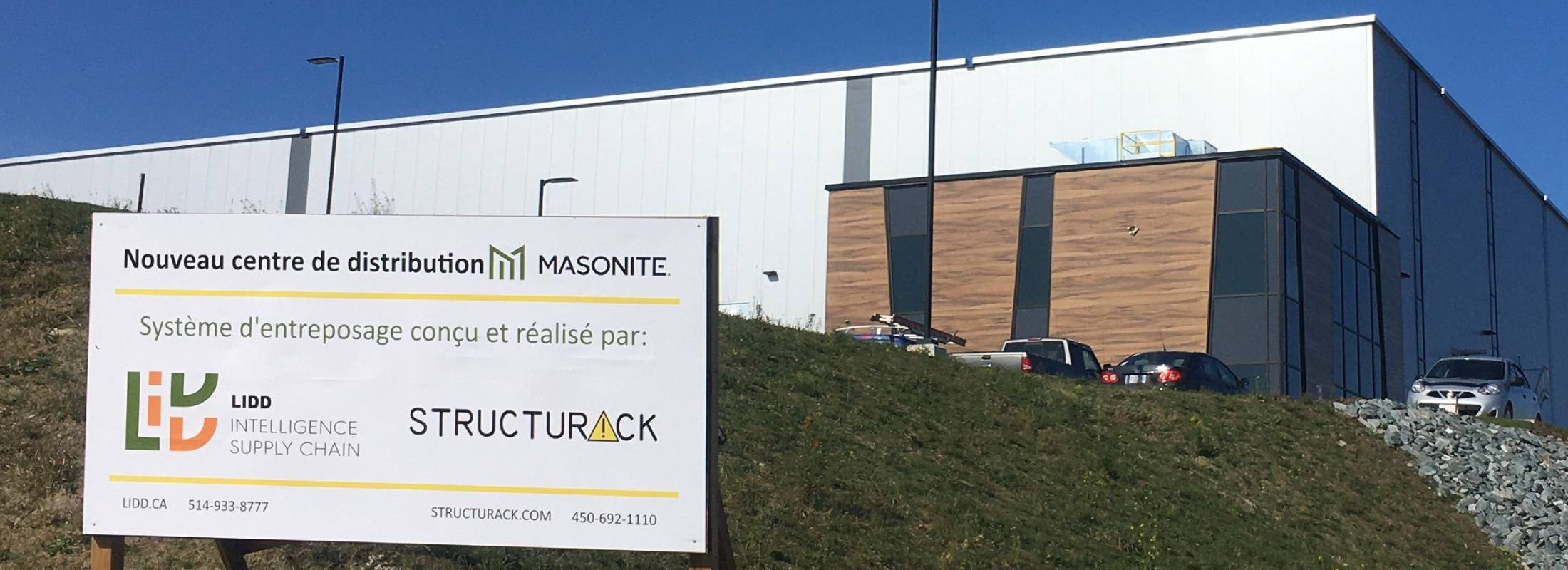 New Distribution center for Masonite in Windsor, Quebec